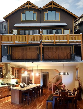 New Townhome construction 809 4th Street, Canmore, AB